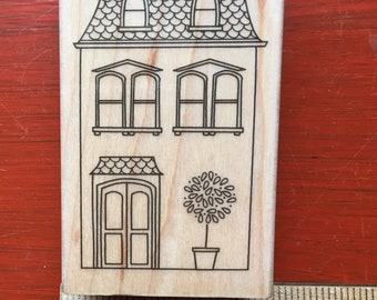 Rubber Stamp, Hero Arts,Victorian House,Used, Destash