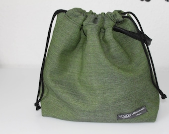 Drawstring project bag, medium size, 2-3 skeins.