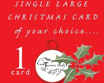 English Bull Terrier Christmas Single Card of your own choice