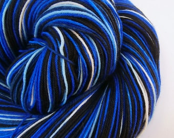 hand dyed sock yarn superwash merino nylon fingering TIME MACHINE 460 yds.