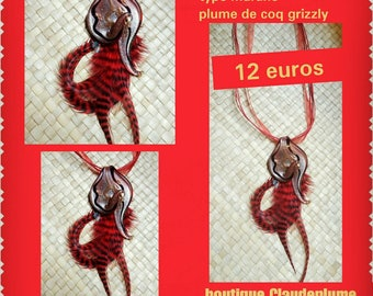 purchased 1 = 1 available, Murano glass pendant necklace & feathers