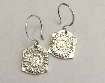 Silver Artisan Earrings - Ready to ship quick gift