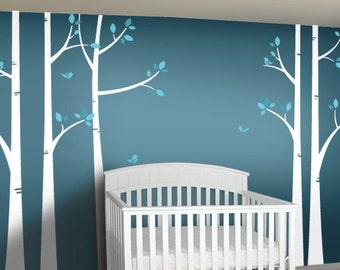 Birch Tree Wall Decal - Woodland Nursery Decal - Nursery Wall Decor