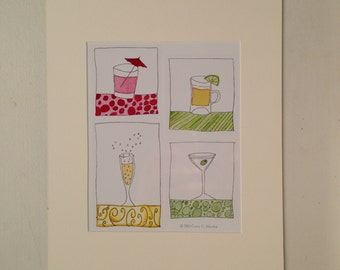 Cheers Matted Print