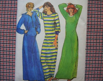 vintage 1980s Butterick sewing pattern 6844 misses robe and nightshirt size 12