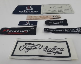 350 pcs HD quality woven label for t-shirts, jackets, hats, pants and clothes