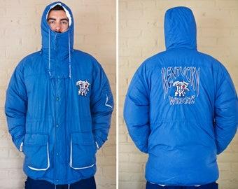 Vintage UK Wildcats Duck Down Coat | Kentucky Wildcats Duck Down Winter Coat