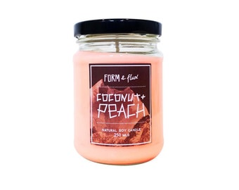 Coconut & Peach Soy Wax Candle