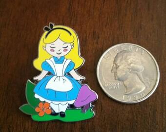 Disney Official Alice in Wonderland Cartoon Alice Pin