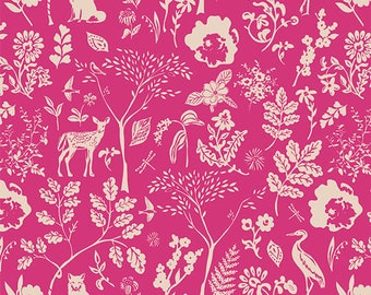 Art Gallery Fabrics, Flora and Fauna Milleu, SGN-58701, SIGNATURE, Sharon Holland, Quilt Fabric, Cotton, Deer, Quilting, Fabric By the Yard