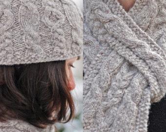 Discount Pattern Set: Hiawatha Cable Hat and Pull-Through Scarf - Knitting  Patterns