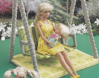 Yard Swing, Annie's Fashion Doll Plastic Canvas Pattern Club Leaflet FP41-03