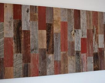 "Wood Wall Art  Reclaimed Old 1800s Barn Wood  Wall Hanging 25"" x 48"" Mural Barn Wood Sculpture Custom Made"