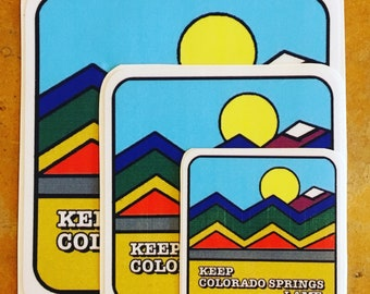 Keep Colorado Springs Lame Full Color Outdoor Vinyl Sticker by Leechpit