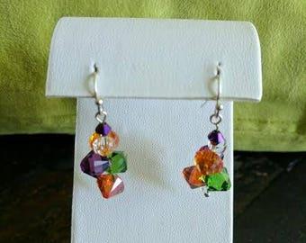 Swarovski Crystal fall color dangle earrings