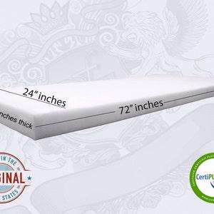 "0.5""(half inch) to 6"" Inch Thick x 24"" x 72"" Medium Density Premium Upholstery Foam Sheet"