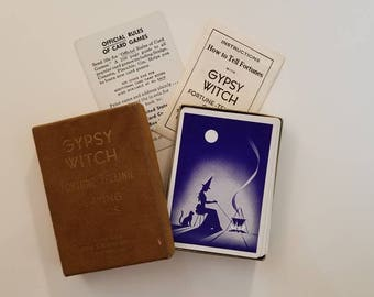 Gypsy Witch Fortune Telling Cards - Tarot Cards Deck - 1930s Antique