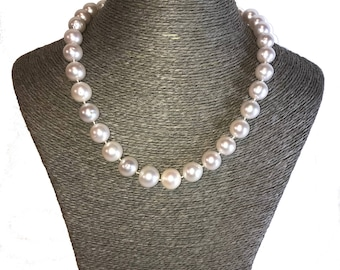 Single Strand Freshwater Pearl Necklace, Freshwater Pearls, Ivory Pearls, Large Pearl Necklaces, Genuine Pearls, Real Pearl Necklaces