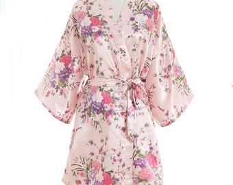 SET of 8- Floral Blush Robes