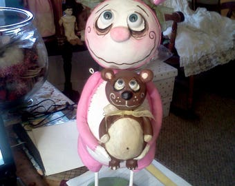 Made to order Grimmy Easter  bunny doll