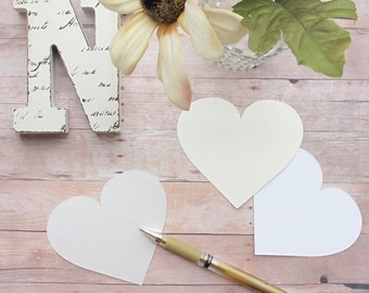 Heart Diecut - Escort Place Seating Cards or Favor Tags for Wedding Reception, Vow Renewal, Engagement or Anniversary Party or Special Event