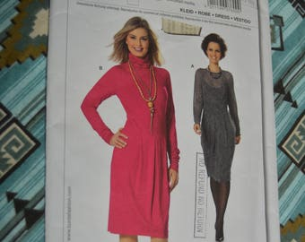 Burda 7600 Misses Fitted Dress Sewing Pattern - UNCUT - Size 8 10 12 14 16 18 20