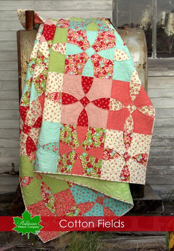 Cotton Fields Quilt Pattern Traditional Patchwork Quilt