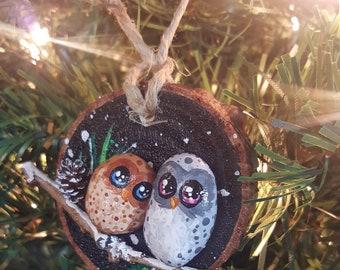 Winter Owl Ornament - 025