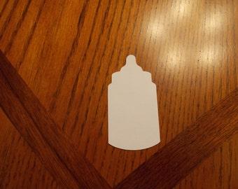 25 Cardstock Baby Bottles! Gender Reveal or Scrapbooking!