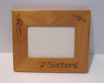 Sisters Picture Frame,  Engraved 3.5 x 5 Picture Frame