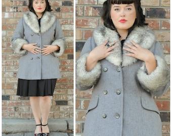 afghan coat vegan coat almost famous wool coat fake fur coat faux fur coat mid century coat, midcentury coat, 1960s coat, 60s coat,