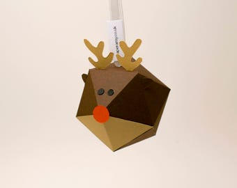 Paper Rudolph Bauble