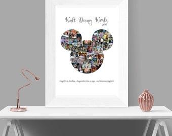 Mickey Mouse Custom Digital Photo Collage Wall Art Printable