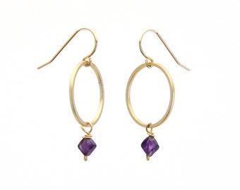 Small Hoop Earrings • Aquamarine Earrings • Moonstone Earrings • Tiny Hoop Earrings • Citrine Earrings • Garnet Earrings • Smokey Quartz