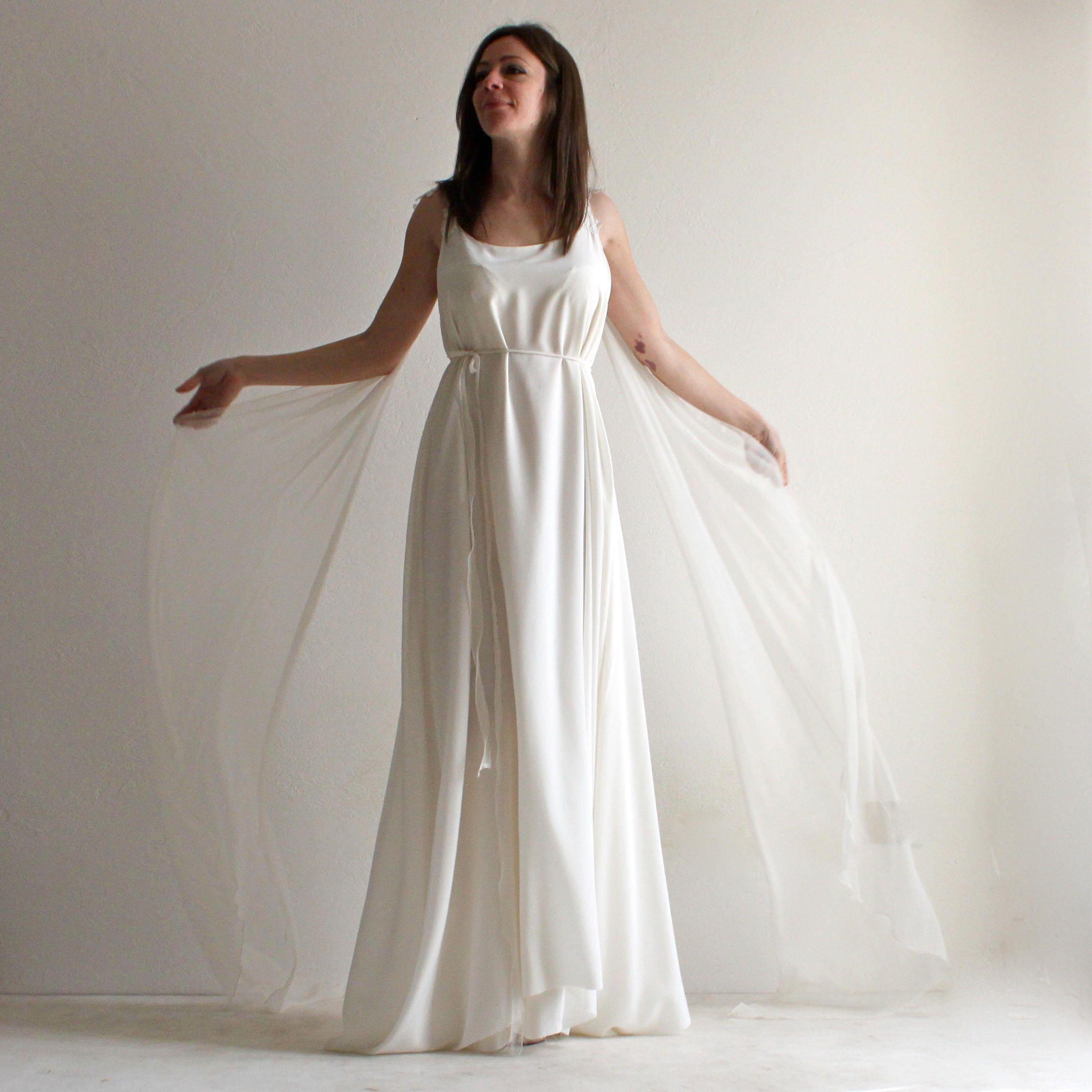 Brautkleid Boho Brautkleid Ethereal Hochzeit Kleid Tunika