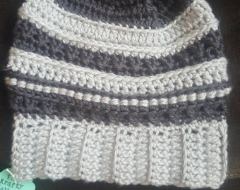 Shades of Grey Slouchy Hat