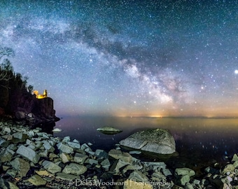 Milkyway over Split Rock Lighthouse