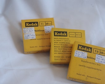 Vintage set of kodak lenses and step-down ring