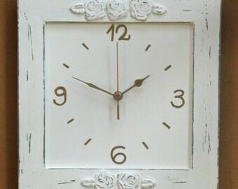 Cream Shabby Chic wall Decor Wall Clock