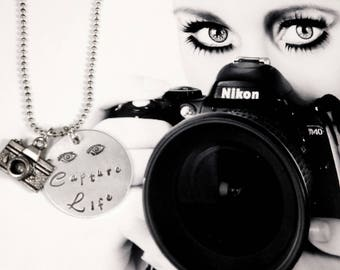 Photographer Necklace - Camera Pendant - Gift for Student or Professional