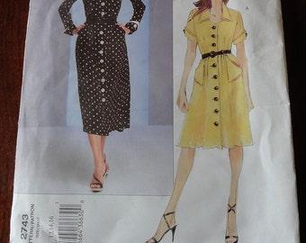 Vogue Couture 2743 Misses Dress Pattern size 12 14 16 Uncut