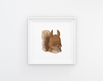 Woodland Squirrel Digital Download