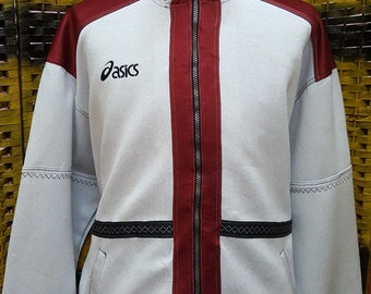 Vintage ASICS windbreaker / small embroidery logo / XLarge size sweatshirt (KK24)