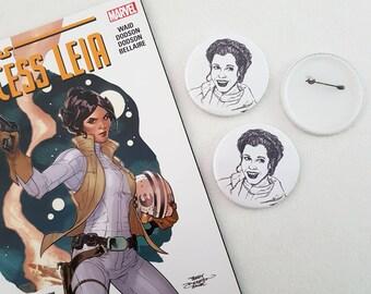 Princess Leia button