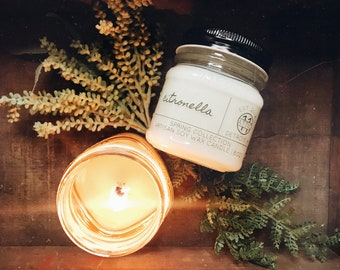 Citronella - Hand Poured Soy Candle - Spring and Summer