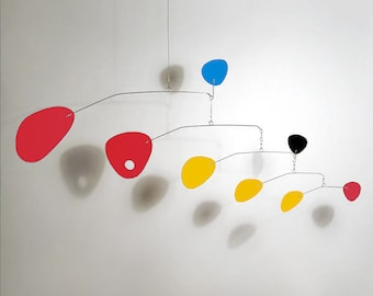 Modern Hanging Mobile Art Sculpture Modernist by Julie Frith Small Mobiles great for Nursery