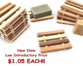 8 Western Red Cedar Slim Style Soap dishes - NEW ITEM - LOW introductory Price!!!