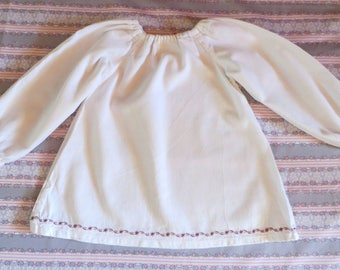 pure white cotton baby gown