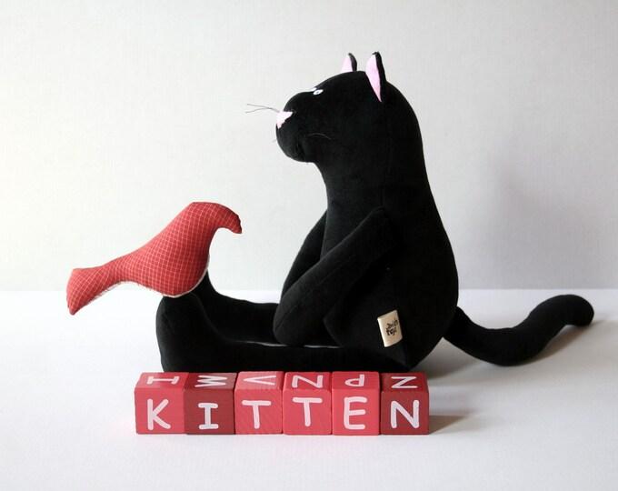 Black Plush Kitty