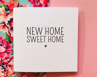 New Home Sweet Home Moving Announcement Card